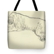 An Illustration Of A Dog Tote Bag