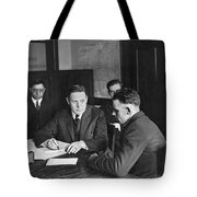 An Immigrant  Being Examined Tote Bag