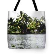 An Isolated Cottage On A Small Piece Of Land Tote Bag