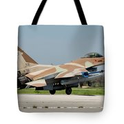 An Israeli Air Force F-16c Tote Bag