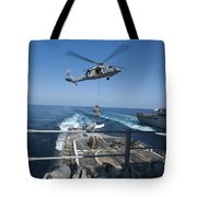An Mh-60s Sea Hawk Brings Pallets Tote Bag