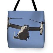 An Mv-22b Osprey Prepares For Landing Tote Bag