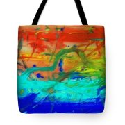 An Ocean Ride Horizon Tote Bag