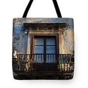 An Old Balcony In Syracuse Tote Bag