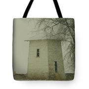 An Old Bin In The Snow Tote Bag by Jeff Swan