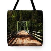 An Old Bridge Crossing The Seleway River  Tote Bag