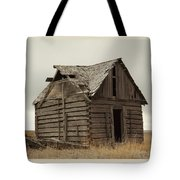 An Old Cabin In Eastern Montana Tote Bag