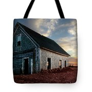 An Old Farm House Sits Partially Buried Tote Bag
