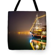 an Old Pirate Ship Tote Bag