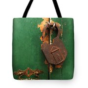 An Old Rusty Lock Tote Bag