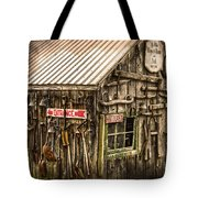 An Old Tool Shed Tote Bag