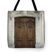 An Ornate Door On The Champs Elysees In Paris France   Tote Bag