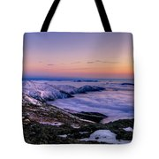 An Undercast Sunset Panorama Tote Bag
