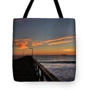 Anacapa Island Pier Tote Bag