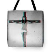 Anaglyph Asian Female Jesus Tote Bag