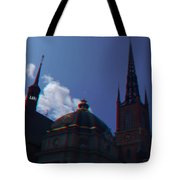Anaglyph Church Tote Bag