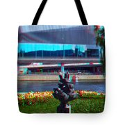 Anaglyph Modern Sculpture Tote Bag