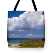Anakena Beach With Ahu Nau Nau Moai Statues On Easter Island Tote Bag