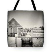Analog Photography - Martha's Vineyard Black Dog Wharf Tote Bag