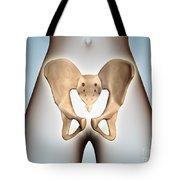 Anatomy Of Pelvic Bone On Female Body Tote Bag