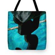 Ancher In Water Santorini Greece Tote Bag