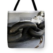 Anchor Chain 02 Queen Mary Ocean Liner Long Beach Ca Tote Bag