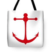 Anchor In Red And White Tote Bag