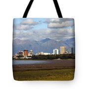 Anchorage Alaska Skyline Tote Bag
