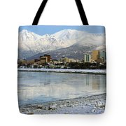 Anchorage Cityscape Tote Bag