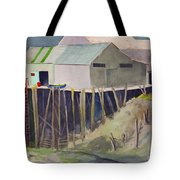Anchorage Dock 1980s Tote Bag