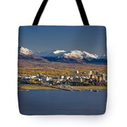 Anchorage Skyline And The Chugach Tote Bag