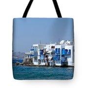 Anchored In Mykonos Tote Bag