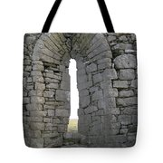Ancient Abbey Window Ireland Tote Bag