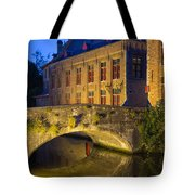 Ancient Bridge In Bruges  Tote Bag