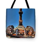 Ancient Cannon From Ww2 Tote Bag