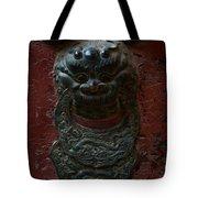 Ancient Door Knocker Tote Bag
