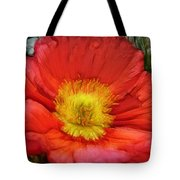 Ancient Flower 4 - Poppy Tote Bag