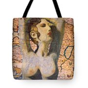 Ancient Middle East Map And Aphrodite Tote Bag