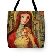 Ancient Mother And Son Tote Bag