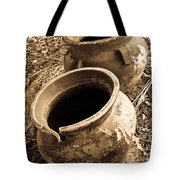 Ancient Pottery In Sepia Tote Bag