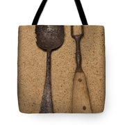 Ancient Spoon And Fork  Tote Bag