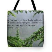 And God Saw Tote Bag
