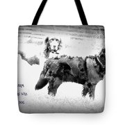 And On That Farm There Was A Dog Or Actuallu Two  Tote Bag