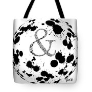 And Sign Splashes Sphere  Tote Bag