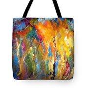 And The Light Flickers Tote Bag
