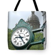 And The Time Is Tote Bag