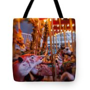 And The Zebra Is In The Lead Tote Bag