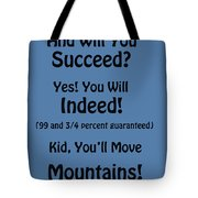 And Will You Succeed - Dr Seuss - Blue Tote Bag