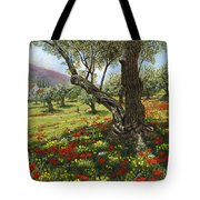 Andalucian Olive Grove Tote Bag