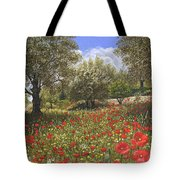 Andalucian Poppies Tote Bag